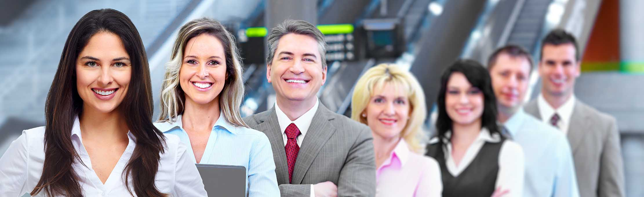 Group of business people in a modern office center